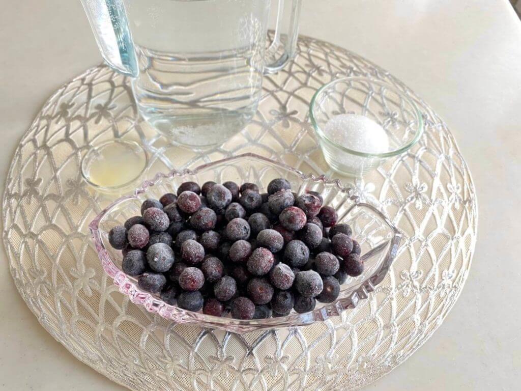濃厚ブルーベリージュースレシピ材料